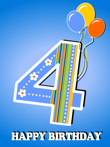 Happy 4th Birthday Nephew : happy, birthday, nephew, Happy, Birthday, Greeting, Cards, Davia