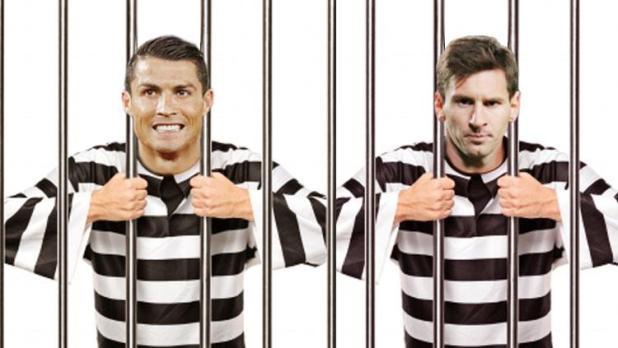Indosport - Ilustrasi Cristiano Ronaldo dan Lionel Messi dalam sel.