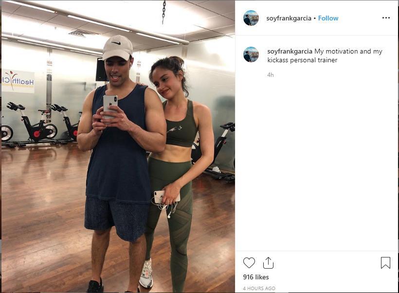 Cinta Laura bersama Frank Garcia dalam sebuah latihan olahraga bersama. Copyright: instagram.com/soyfrank_garcia/