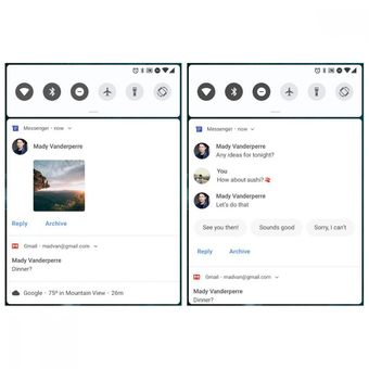 Smart reply di notifikasi Android Pie