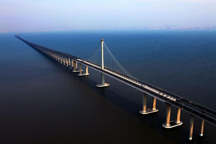 10 Jembatan Terpanjang di Dunia Halaman all  Kompascom