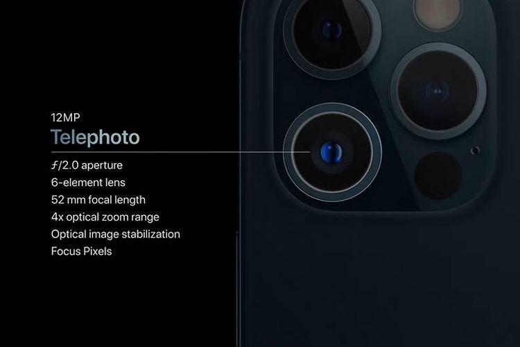 IPhone 12 Pro telephoto camera.