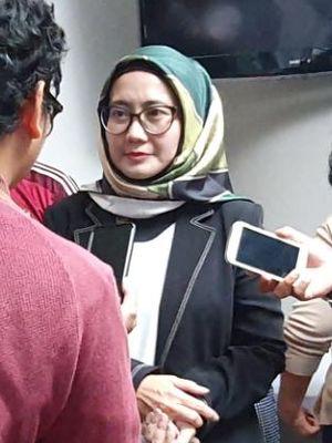Direktur Utama Telkomsel, Emma Sri Martini saat berkunjung ke Menara Kompas, Jumat (25/10/2019).