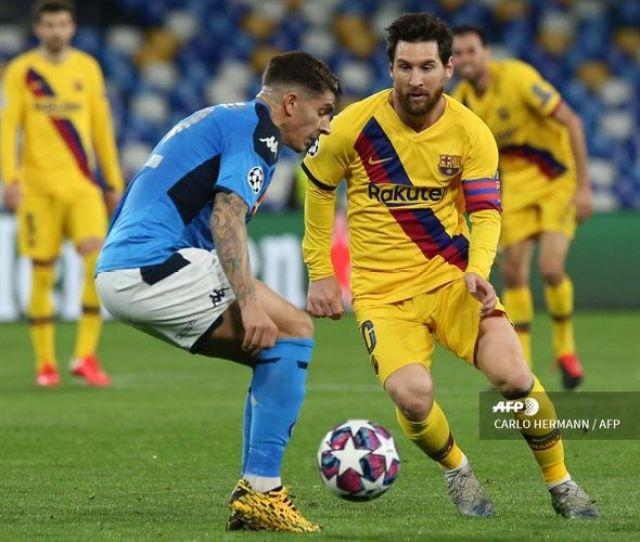 Napoli Vs Barcelona Messi Dkk Dinilai Nyaris Tak Menekan Lawan