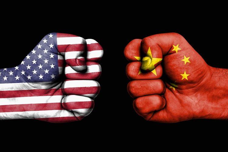 Illustration of trade war