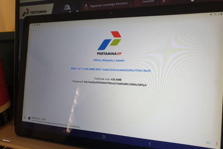 해커그룹, 인니 국영 기업 Pertamina의 데이터를 유출했다고 주장