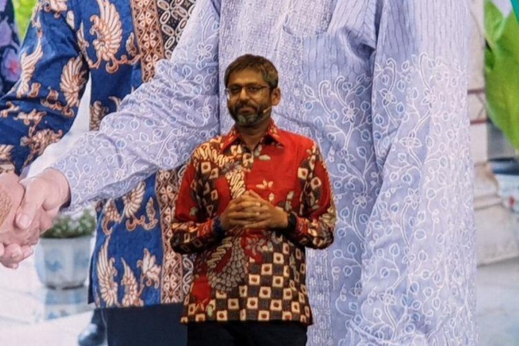 Nimesh Ranjan, Google Assistant Program & NBU Lead saat memperkenalkan beberapa fitur baru Google Assistant di acara Google for Indonesia.