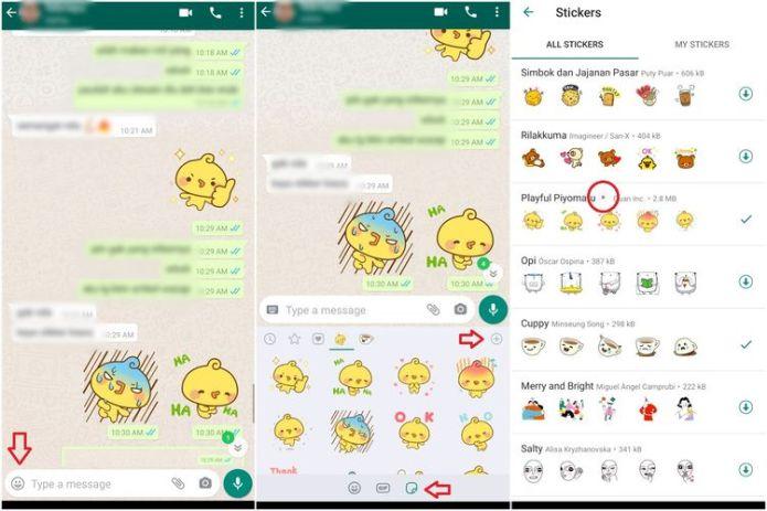 Cara menggunakan stiker animasi di Whatsapp.