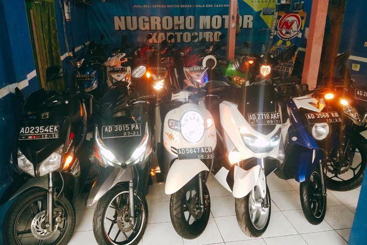 Used motorbike at the Nugroho Motor Showroom, Kartasura, Sukoharjo