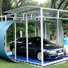 Biaya Membuat Garasi Mobil Dengan Baja Ringan Untuk Rangka Penutup