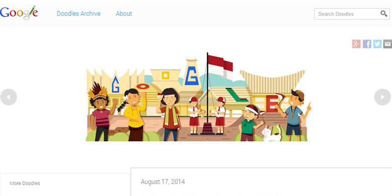 Google Pajang Doodle Karya Anak Bangsa  Kompascom