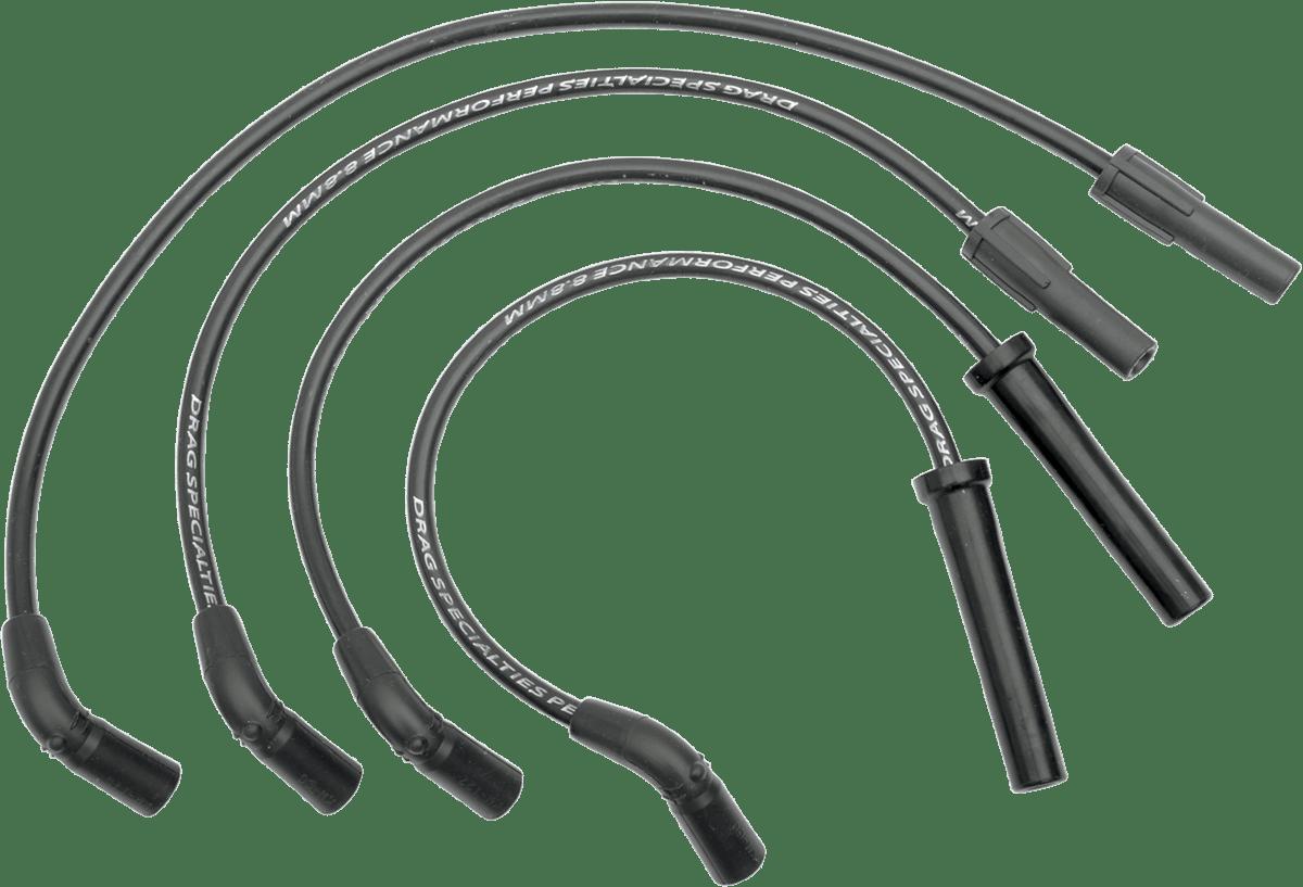 Drag Specialties Black 8.8mm Spark Plug Wire Set 98-03
