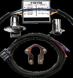 khrome werks 4 5 trailer wiring harness converter 14 16 harley touring flhx flhr [ 1200 x 965 Pixel ]