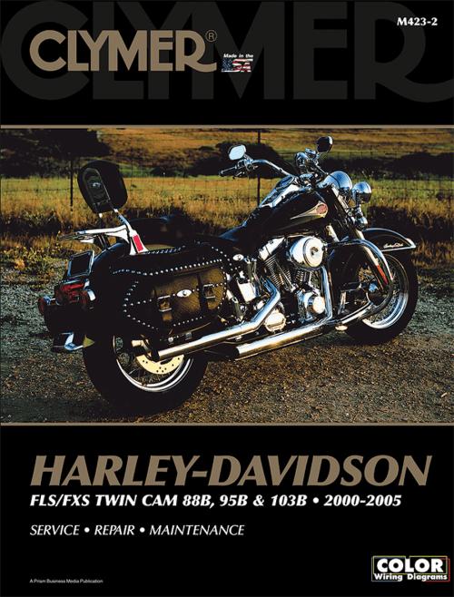 small resolution of clymer motorcycle repair manual harley davidson 00 05 flst fxst tc88 flstn flst