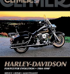 clymer repair manual harley 84 98 flht flt fxr evo [ 909 x 1184 Pixel ]