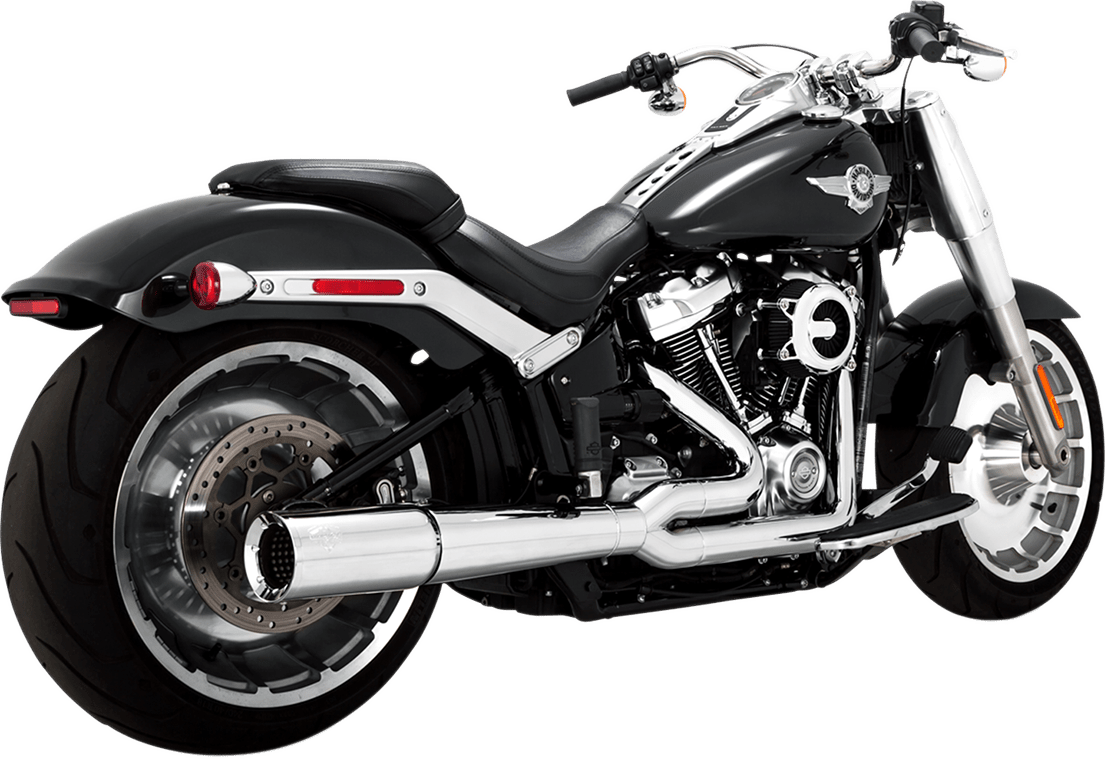 vance hines chrome 2 into 1 pro pipe exhaust for 18 19 harley davidson softail jt s cycles