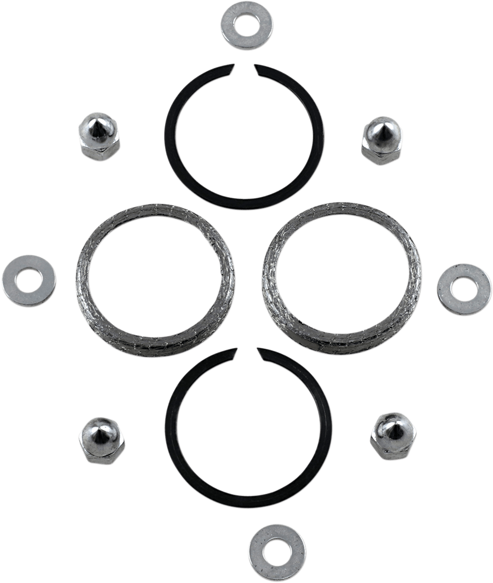 James Gasket Chrome Acorn Nuts & Exhaust Gasket Kit for 86