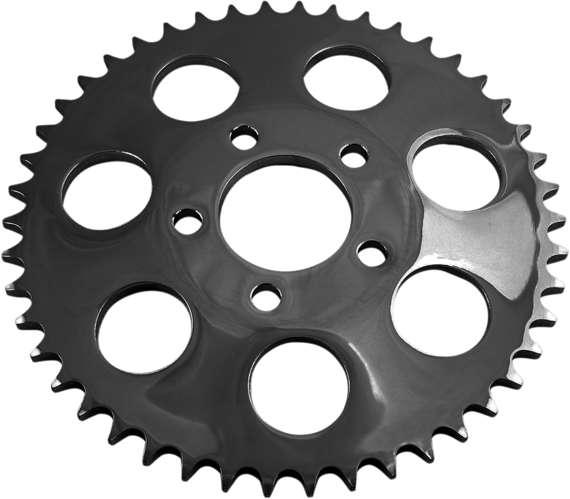 Drag specialties black dished 46 tooth rear sprocket for 00 18 harley dyna flhx