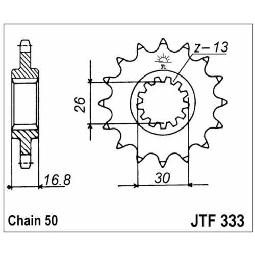 98-17862 JT-eturatas Honda 750/900/1000cc z15 (JTF333.15