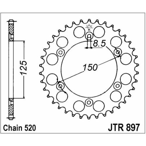 98-19118 JT-takaratas Husaberg/KTM 125-650cc z42 (JTR897