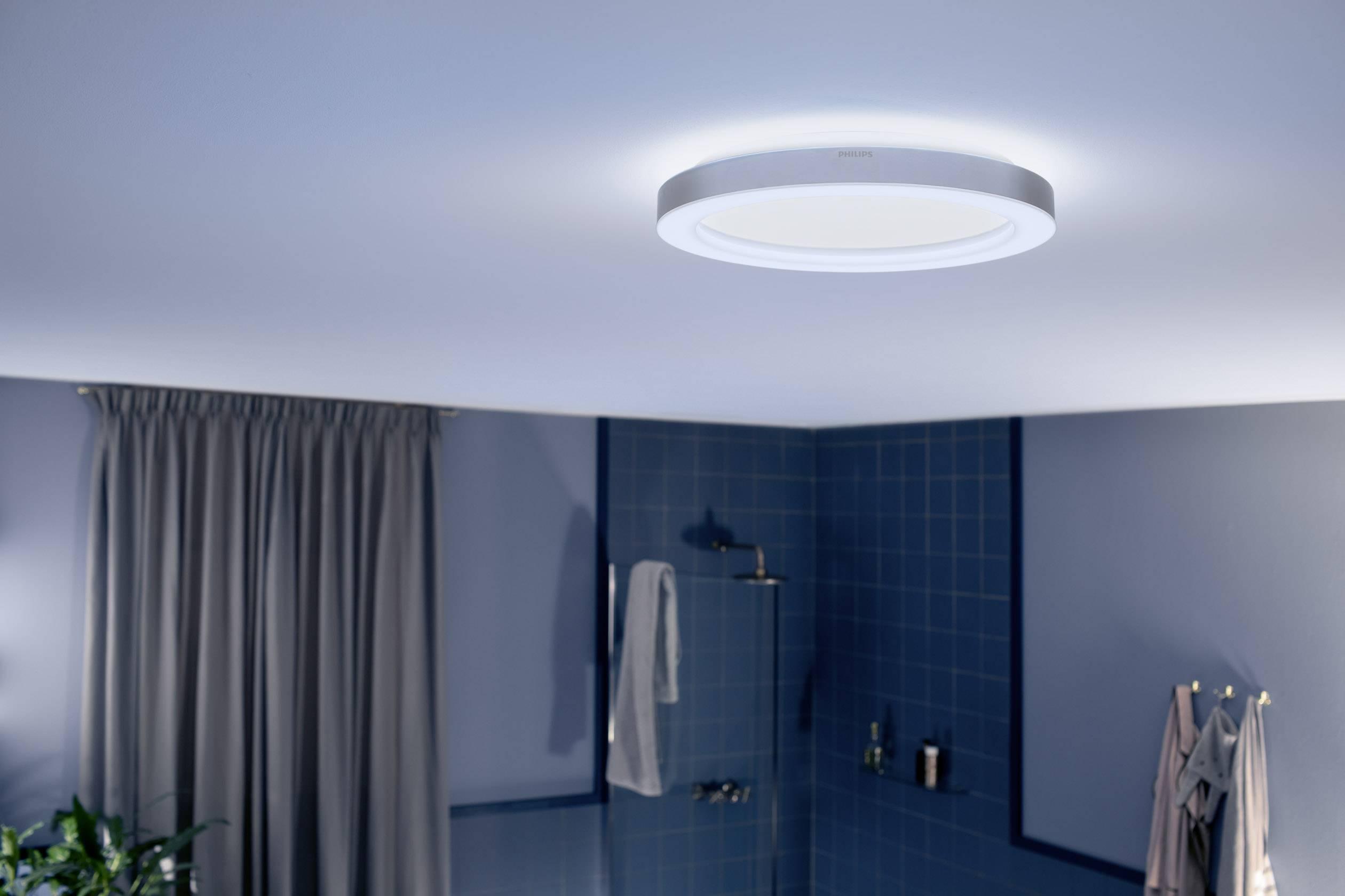IP44 Deckenleuchte Bad 40x40cm Coole LED Flurlampe eckig mit