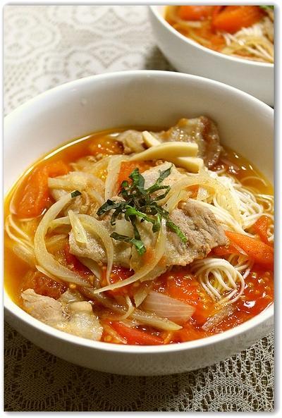 優しい味がする~トマト素麺汁