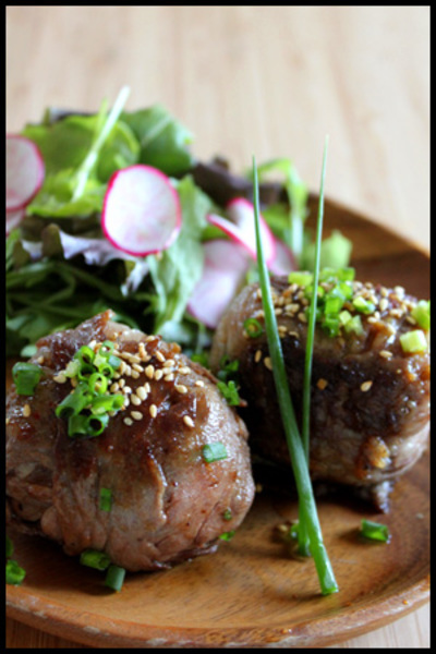 ★野菜たっぷりビビンバの肉巻きおにぎり★