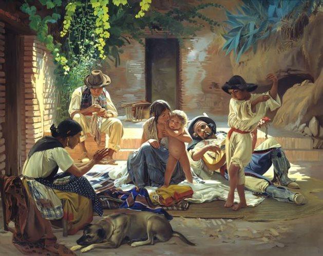 Πίνακας του Σορόκιν (1853) με Gitanos της Ισπανίας