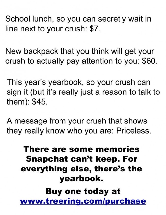 funny yearbook poster ideas: mastercard ripoff