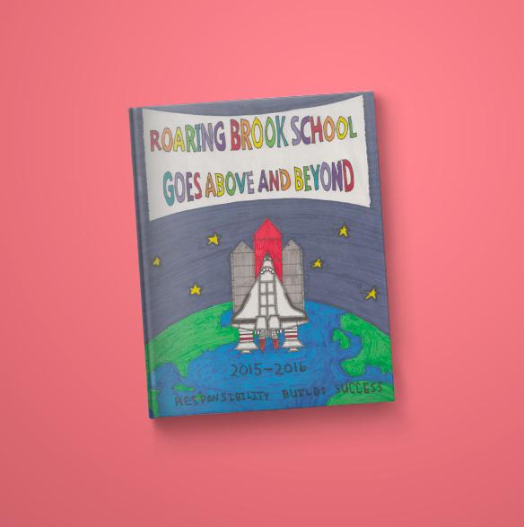 Roaring Brook School Yearbook Cover 2015-2016