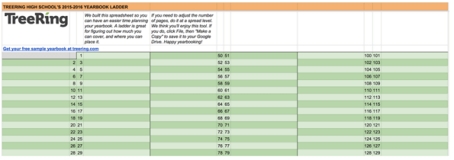 Get this free yearbook ladder template for your planning efforts.