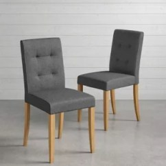 Grey Dining Chairs Chair Covers Cotton Room Oak Leather M S Set Of 2 Colby