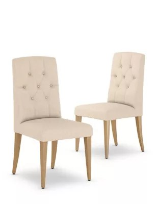 bedroom chair m&s wood high set of 2 greenwich button dining chairs m s