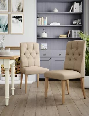 bedroom chair m&s ergonomic godrej set of 2 greenwich button dining chairs m s