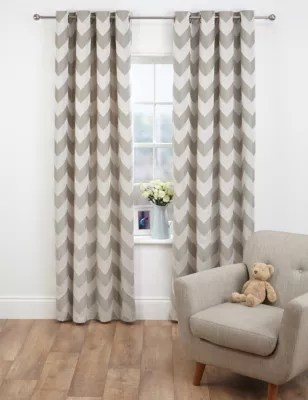 chevron living room curtains theaters menu portland jacquard eyelet m s product images skip carousel