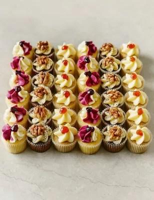 36 Mini Afternoon Tea Cupcakes MampS