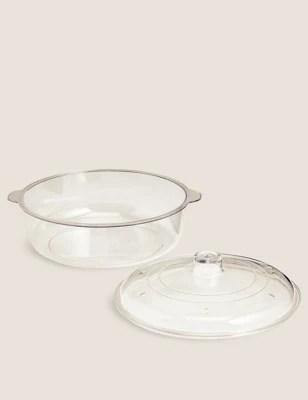microwavable 1 25 litre lidded casserole dish
