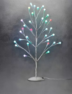 2ft Cute Colour Changing Ball Christmas Tree MampS