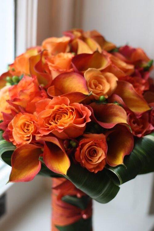 Brautstrauss in Orange gefllig
