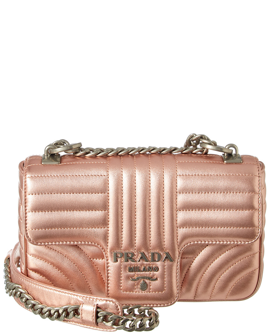 hight resolution of prada diagramme leather shoulder bag in pink