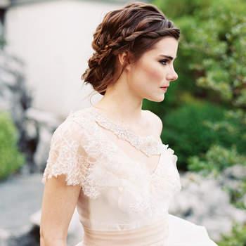 65 atemberaubende Brautfrisuren Edel vom Ansatz bis zur