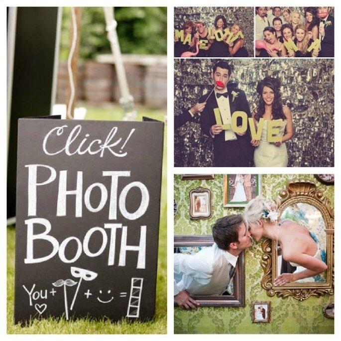 Photobooth und Photowall fr lustige Hochzeitsfotos