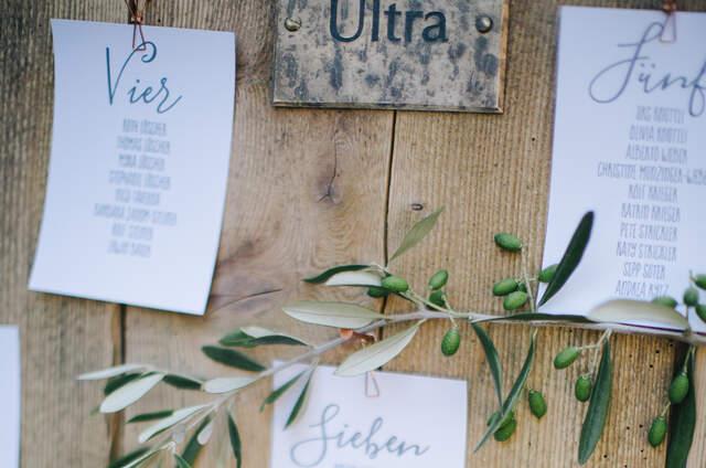 Hochzeitsdekoration  Unsere Auswahl