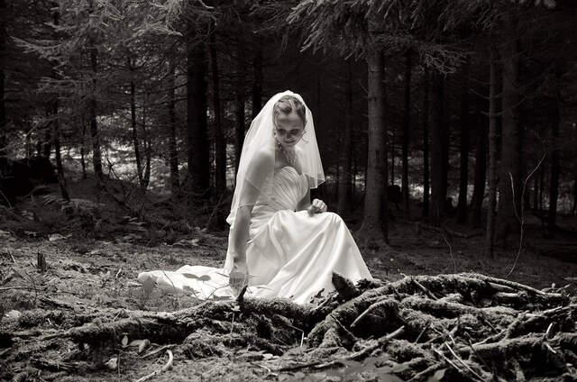 BrautpaarShooting im Mrchenwald Ruth  Patricks