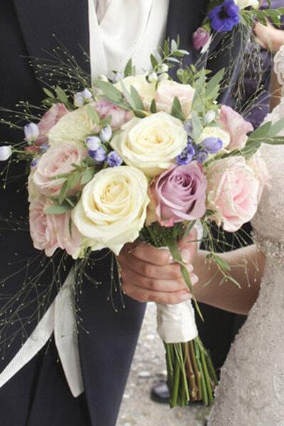 Brautstrauss in Pastellfarben  zu schn