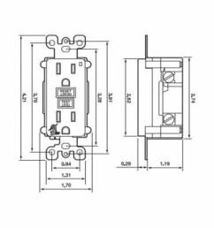 leviton smartlockpro 7899 w 7899 duplex feed through monochromatic gfci receptacle 125 vac 20 a 2 poles 3 wires white smc electric [ 1500 x 1500 Pixel ]