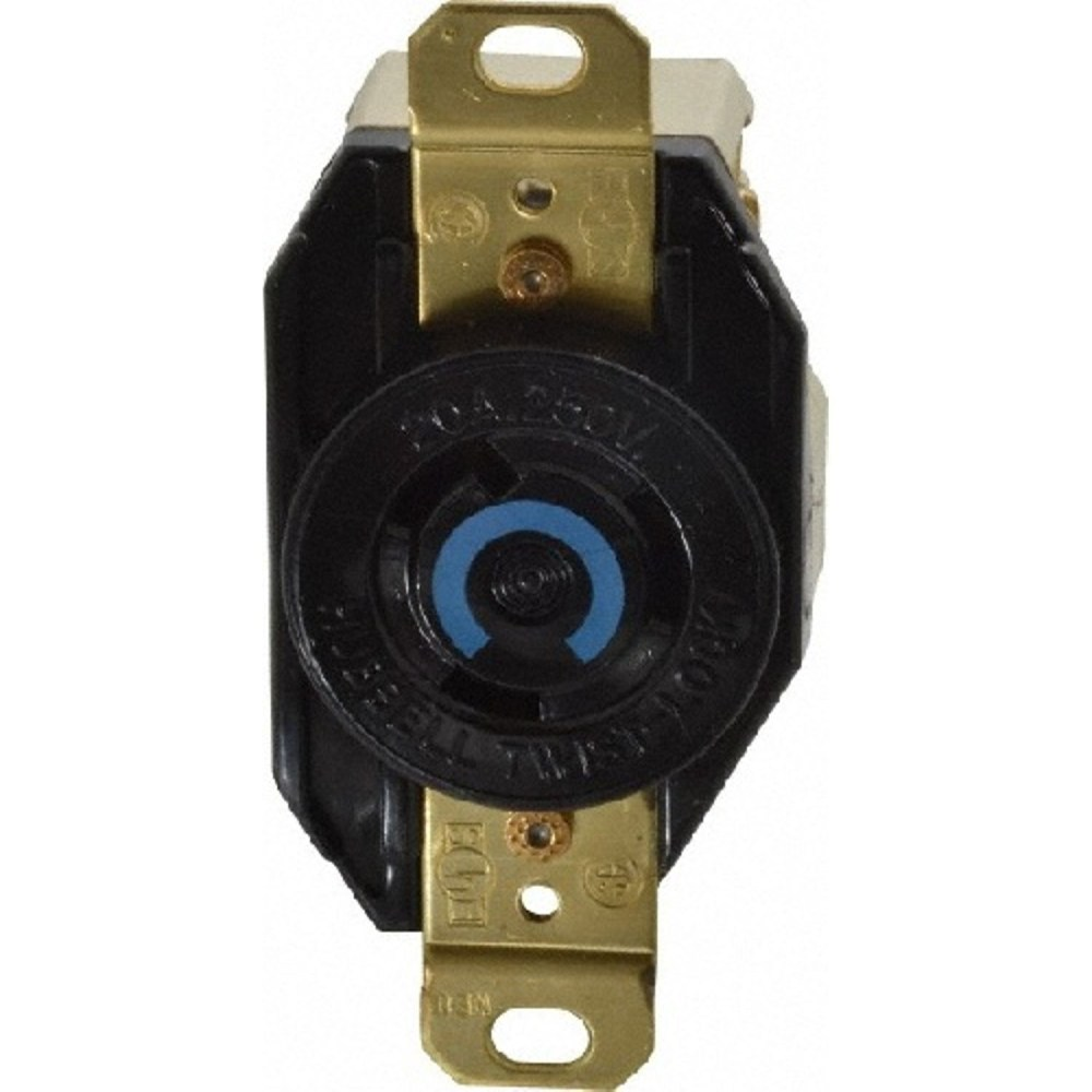 medium resolution of hubbell twist lock receptacle 2 pole 3 wire 20 ampere 250 volts nema l6 20r black state electric