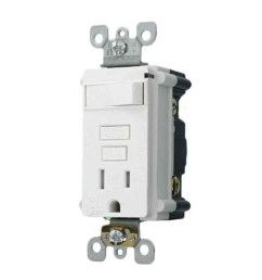 smartlockpro t7299 w single outlet tamper resistant combination gfci receptacle and switch 15 a 125 vac 2 poles 3 wires 14 to 10 awg wire [ 1500 x 1500 Pixel ]