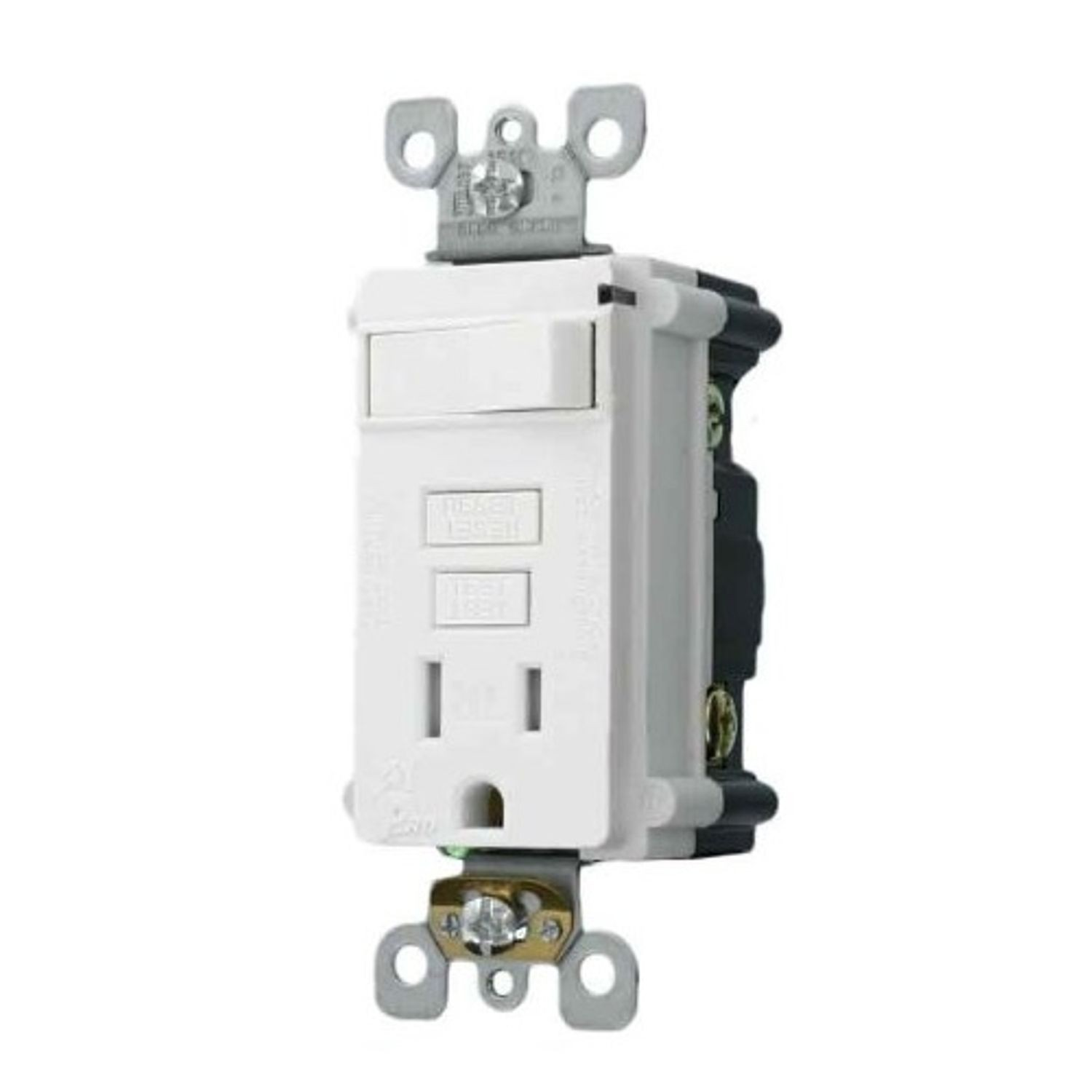 hight resolution of smartlockpro t7299 w single outlet tamper resistant combination gfci receptacle and switch 15 a 125 vac 2 poles 3 wires 14 to 10 awg wire