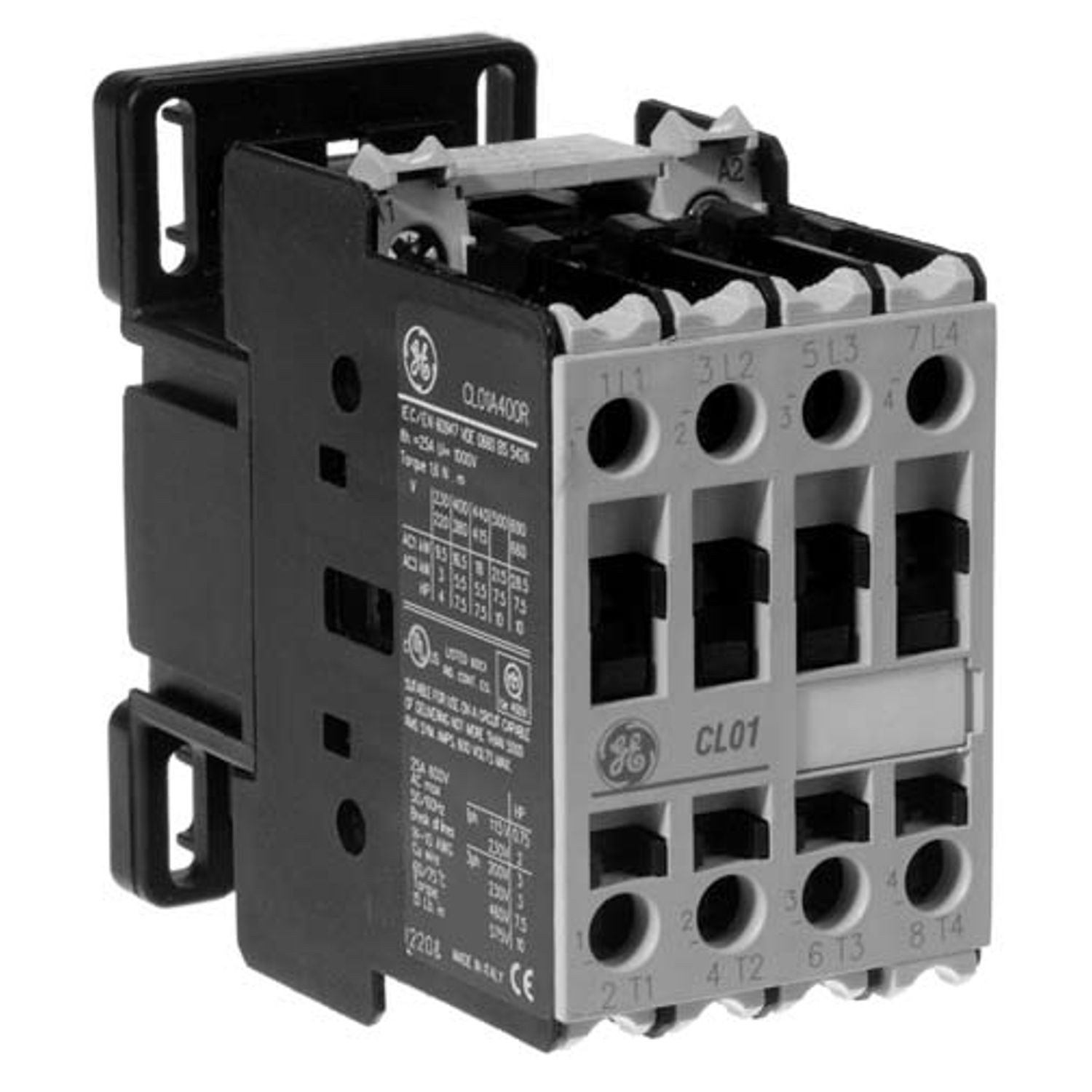 hight resolution of general electric cl01a310tj c 2000 full voltageneral electric non reversing iec contactor 110